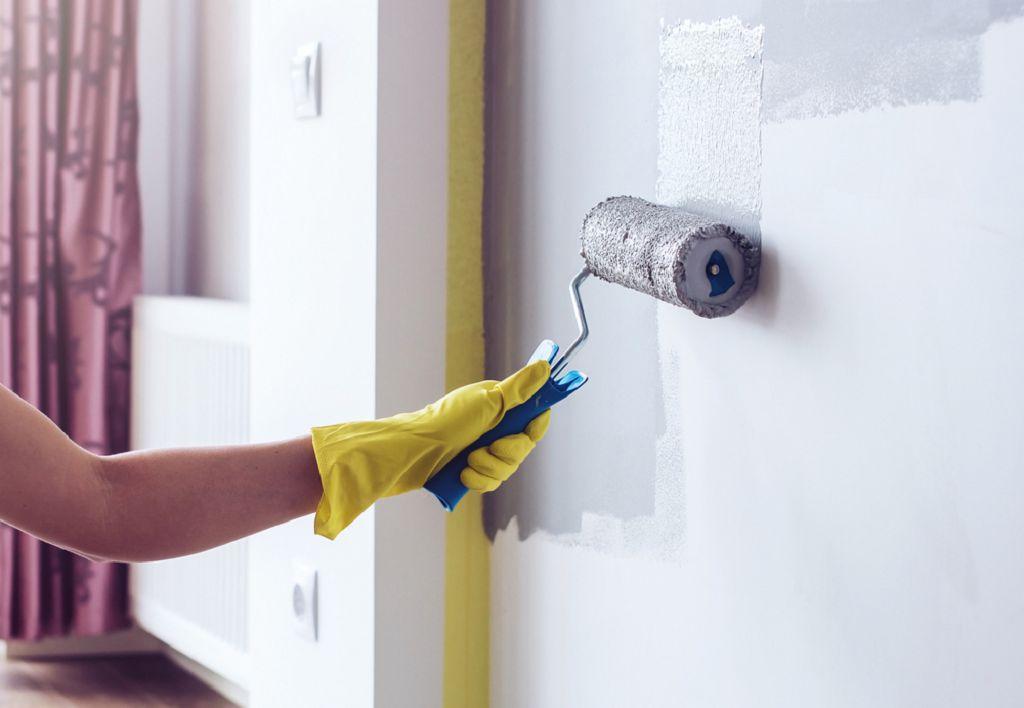 как покрасить стены под покраску