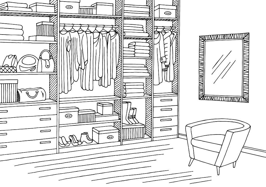 фотографиях картинка раскраска шкаф с одеждой конфет ферреро роше